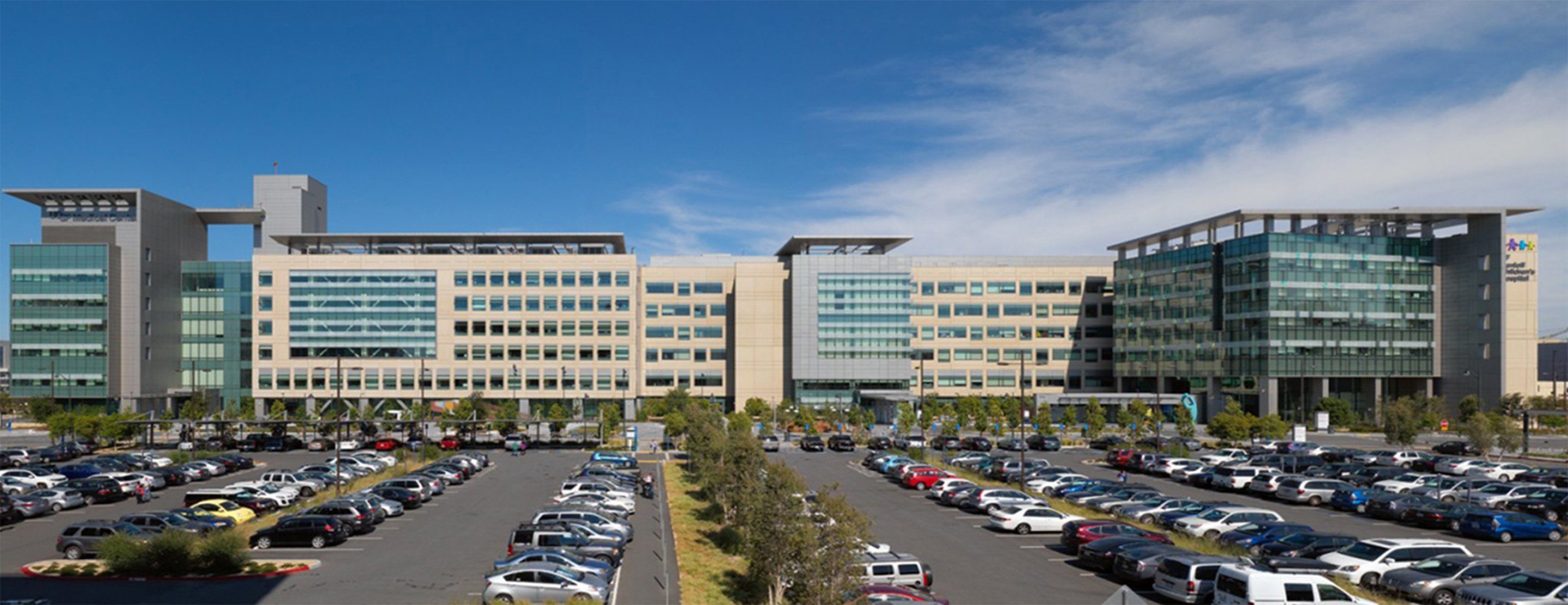 Mission Bay campus buildings and parking lot